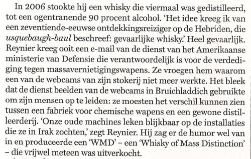Whisky of Mass Distinction