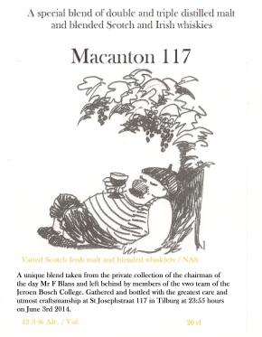 Macanton 117 42,3 % Alc./Vol.