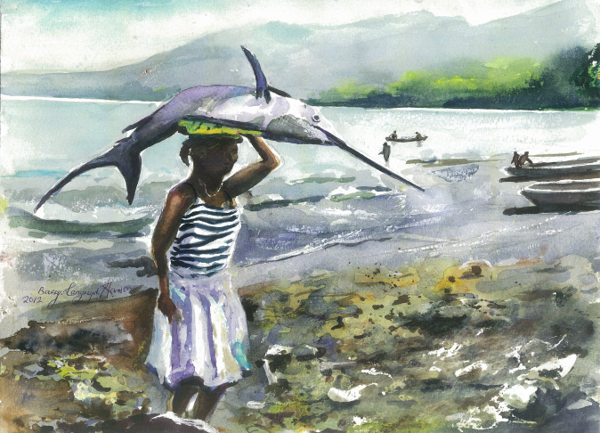 The Young Woman and the Sea