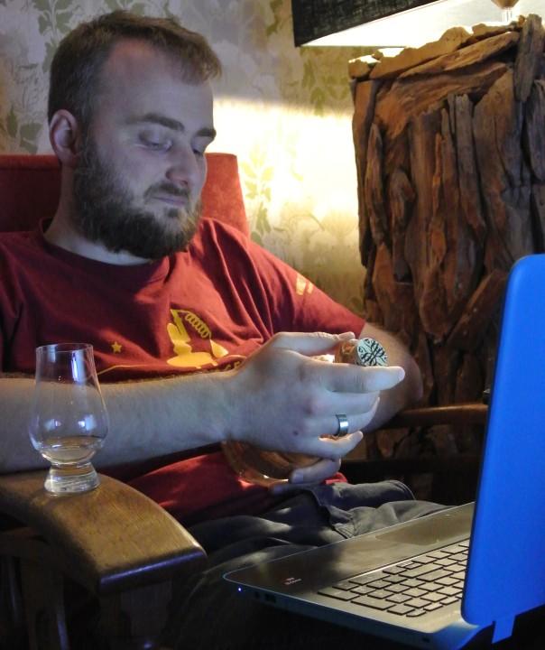 Blogger Sjoerd de Haan-Kramer in zijn whisky zone