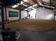 Malting floor Kilchoman mei 2017