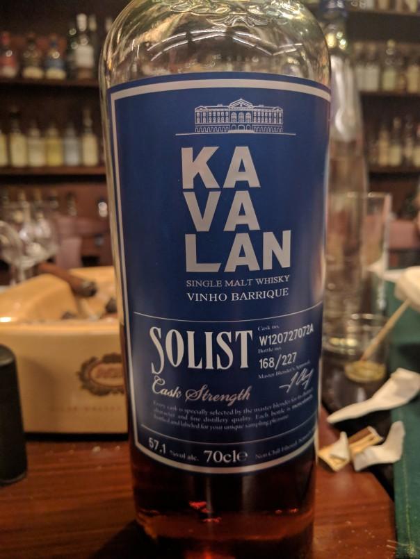Kavalan Solist 2017  vinho barrique