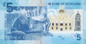 Brig o' Doon op een polymeer bankbiljet