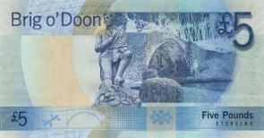 Brig o' Doon op een oud bankbiljet