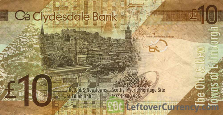 Clydesdale BankTen Pounds bank note 2008-2017