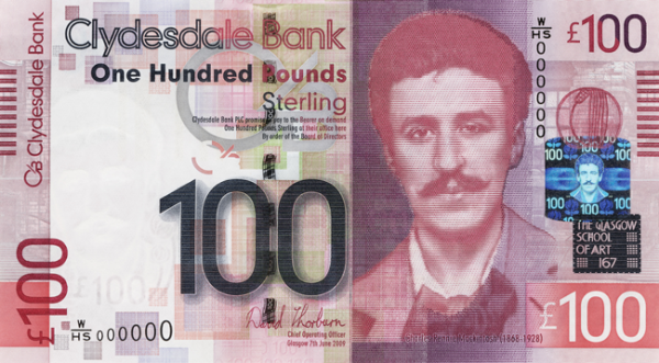 WHSeries Charles Rennie MacKintosh 100 GBP