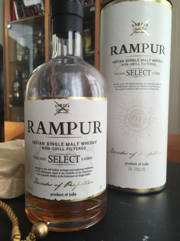 Rampur Single Malt 43% abv