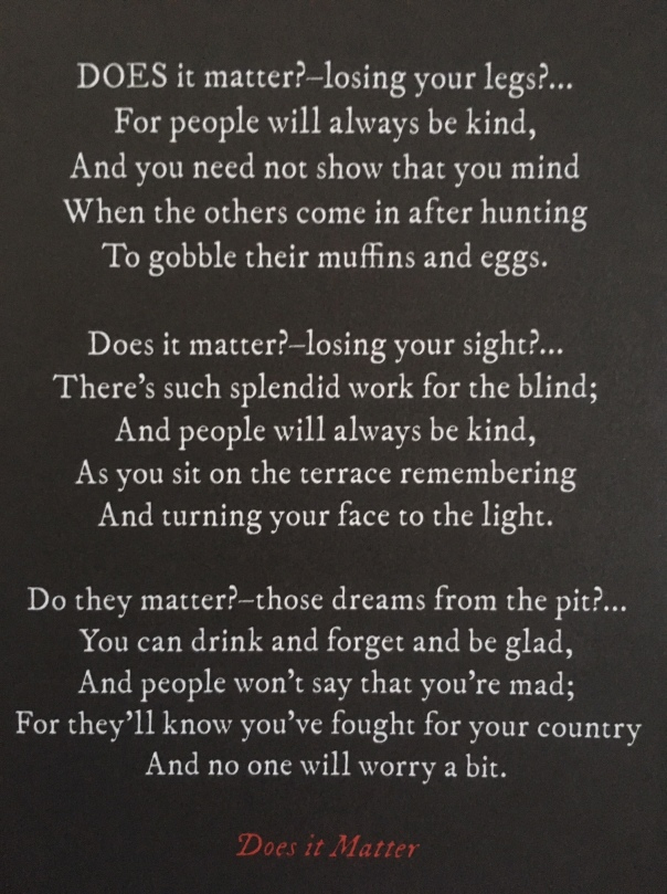 Does it Matter? Siegfried Sassoon