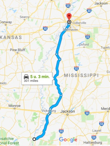 From Natchez to Memphis