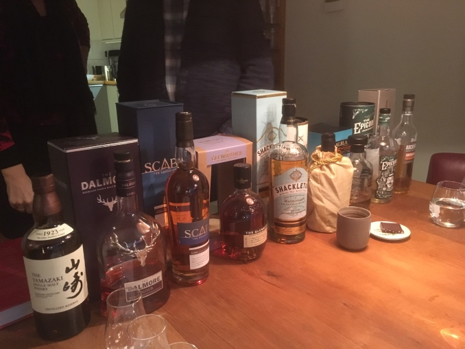 Line up whisky workshop 1