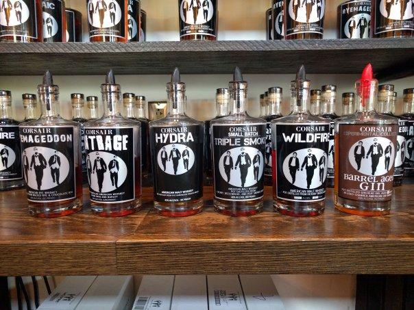 Corsair whiskey line up