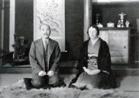 Masataka Takezuru · Rita en zijn vrouw = foto genomen in 1940, verzorgd door Nikka Whisky